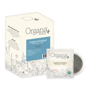 Organa English Breakfast Black Tea Pods - 18 CT