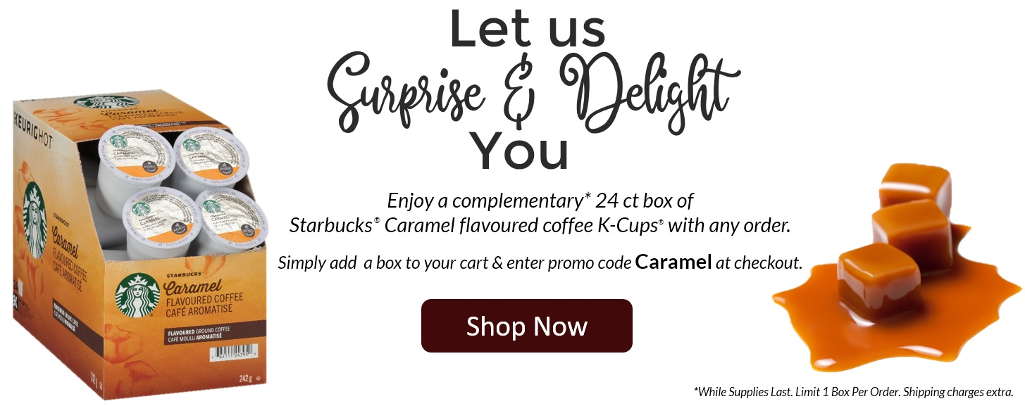 Starbucks Caramel K-Cup Free Box With Purchase Carousel